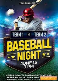Free Baseball Flyer Template Baseball Match V5 Flyer Template Free Download Free