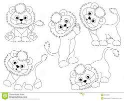 baby lion clipart black and white.  Clipart Vector Black And White Cute Lions Set Baby Lion Lion Cub Clipart Throughout Baby Lion Clipart Black And White E