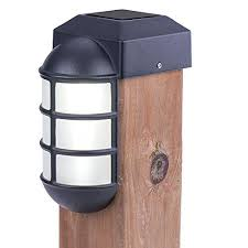 sterno home paradise solar cast led post cap light for 4x4 posts with crystalline solar panel rechargeable batte