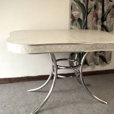 Round Formica Kitchen Table Vintage 1950s Formica And Chrome Kitchen Table Vintage Types