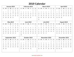 pdf printable calendar pdf printable calendar 2019 yearly calendar 2019 printable