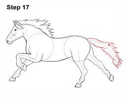 running horse drawing. Unique Drawing Draw Running Horse 17 Intended Drawing W