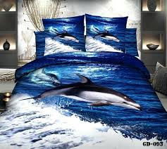 duvet cover california king dolphin blue ocean bedding set quilt bedspread bed in a bag fitted