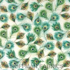 Royal Peacock with metallic Cotton Print Quilting Fabric by ... & Alternative Views: Adamdwight.com