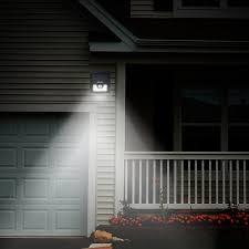mpow solar power lights outdoor lighting wireless 8 led security motion sensor lights 3 intelligent modes