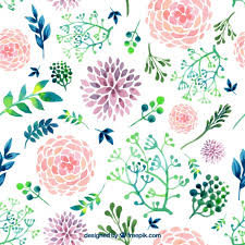Hand painted flowers Free Vector