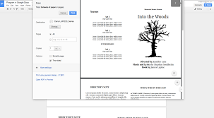 How To Create An Event Program Booklet How To Create A Show Program In Google Docs Theaterish