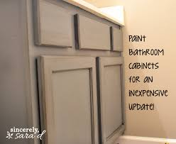 painting bathroom cabinet. Interesting How To Chalk Paint Bathroom Cabinets Decorating Painting Cabinet