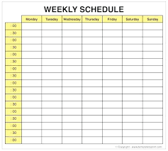 Weekly Calendar With Time Slots Template Excel Weekly Planner Template Elegant Calendar With Time Slots Slot