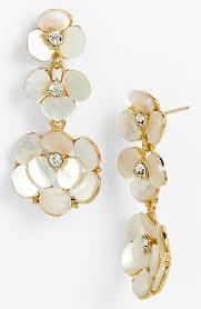 kate spade disco chandelier earrings in gold cream clear gold lyst