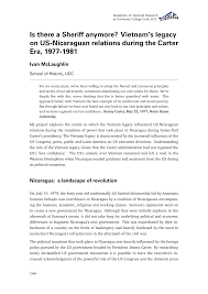 Is there a Sheriff anymore? Vietnam's legacy on US-Nicaraguan relations  during the Carter Era, 1977-1981