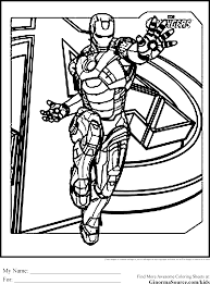 Avengers Coloring Pages Iron Man Is