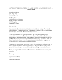 Cover Letter Sample For Job Posting Writing An Academic Cover