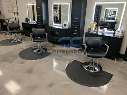 decorative flooring hair salon