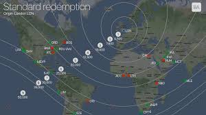 Avios Points Redemption Chart Selecting Redemption Destinations On The Edges Of The