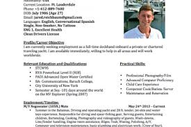 stewardess yacht resume sample
