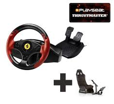 Thrustmaster Ferrari Racing Wheel Red Legend For Ps3 Pc Ready To Race Bundle For All Your Racing Needs