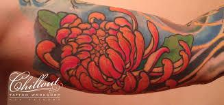 тату пион япония Chillout Tattoo Workshop