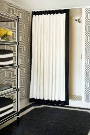 designer shower curtain rod bathroom transitional with neutral colors traditional artificial flowers
