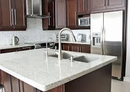 dark brown quartz countertops kitchens medium brown cabinets with white quartz countertop google search kitchen