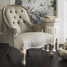 french antique white bedroom armchair