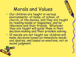 moral values morals and values
