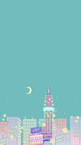 Pastel Aesthetic City iPhone Wallpapers ...