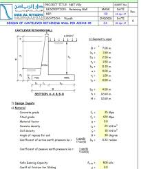 Small Picture Design of Cantilever Retaining Wall as per ACI 318 05 Civil