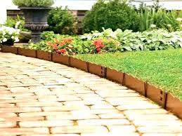 wooden garden borders brick border edging ideas red walk path with wood