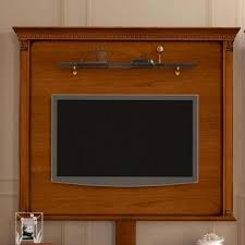 Treviso Ornate Cherry Wood TV Wall Mount Plate ...