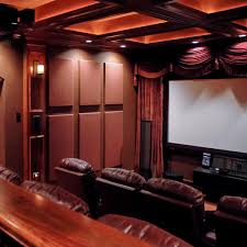 jeff autor s home theater using absorptive soundsuede acoustic wall panels