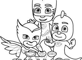 Small Spaces Coloring Pages Of Pj Masks Eudugorg