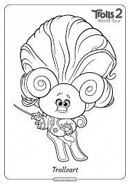 Free printable trolls coloring pages. Free Printable Trolls 2 Trollzart Pdf Coloring Page Coloring Pages Paw Patrol Coloring Z Arts