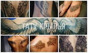 тату крылья в различных вариантах фото