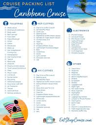 7 Day Cruise Packing List Complete Caribbean Cruise Packing Guide Eatsleepcruise Com