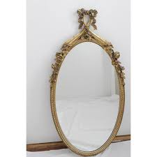 Gorgeous French Antique Oval Gold Leaf Mirror Chairish