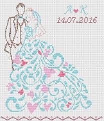 Wedding Cross Stitch Patterns New Scheme For Cross Stitch Cross Stitch Pattern Wedding Gift
