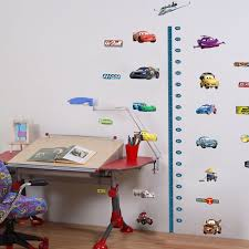 Disney Cars Height Chart Removable Wall Stickers Kids Boys
