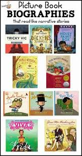 this list of picture book nonfiction biographies do exactly that they tell a story that makes it seem like you re reading