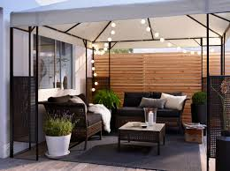 ikea outdoor lighting. A Patio With Two Sofas And Table In Black-brown Plastic Rattan Black Ikea Outdoor Lighting H