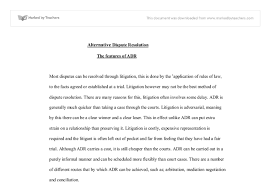 features of adr university law marked by teachers com document image preview