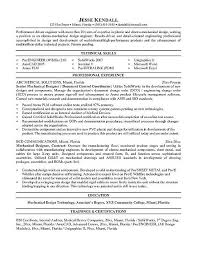 Sample Resume For Mechanical Engineer