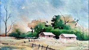 Simple Painting Simple Watercolor Landscape Painting For Beginners Paint With