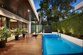 Swimming pool area with the home decor minimalist pool furniture with an  attractive appearance 2