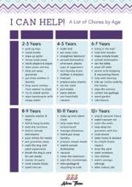 Chore Chart By Age The Benefits Of Teaching Responsibility