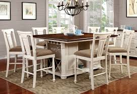 sabrina white counter dining set  andrew's furniture and mattress
