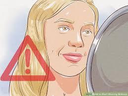 image led start wearing makeup step 2