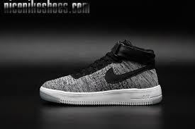 nike shoes 2016 high tops. 2016 latest air force 1 flyknit high tops shoes for women gray white black nike