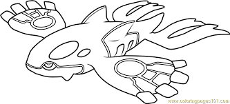 Small Picture Kyogre Pokemon Coloring Page Free Pokmon Coloring Pages
