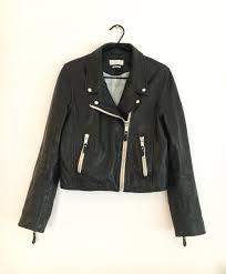 isabel marant etoile aken leather biker jacket 40